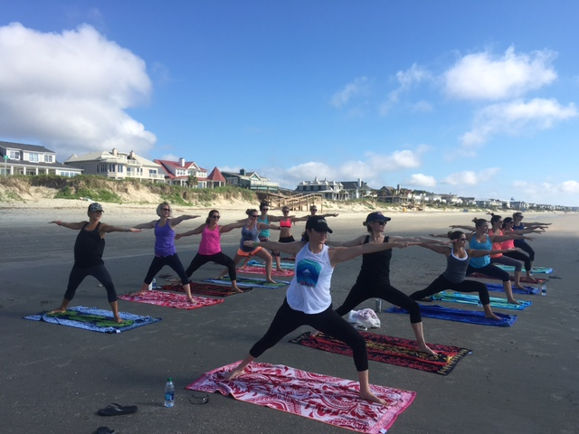 Charleston Bachelorete Fun with Serenity Tree Yoga